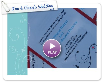 Click to play this Smilebox slideshow: Jon & Josie's Wedding