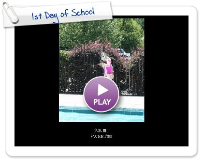 Click to play this Smilebox slideshow: 1st Day of School