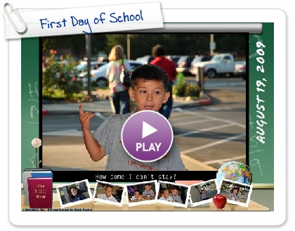Click to play this Smilebox postcard: First Day of School