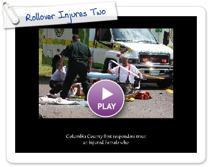 Click to play this Smilebox slideshow: Rollover Injures Two