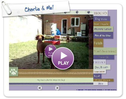 Click to play this Smilebox slideshow: Charlie & Me!