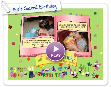 Click to play this Smilebox slideshow: Ana's Second Birthday
