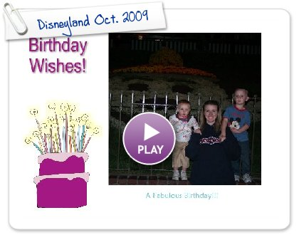 Click to play this Smilebox slideshow: Disneyland Oct. 2009