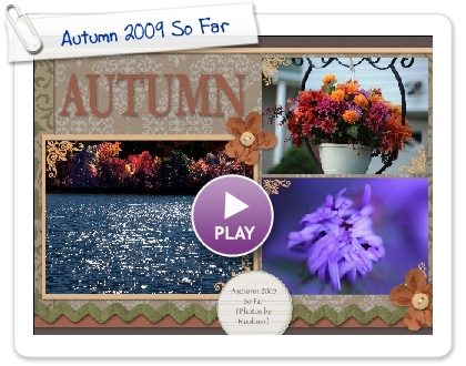 Click to play this Smilebox scrapbook: Autumn 2009 So Far