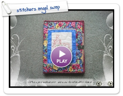 Click to play this Smilebox slideshow: stitchers angel swap
