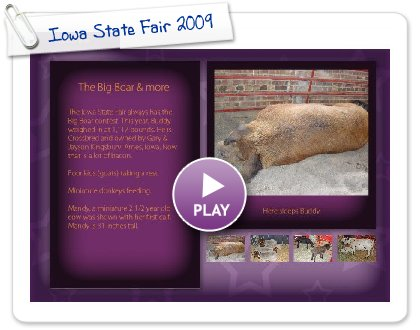 Click to play this Smilebox postcard: Iowa State Fair 2009