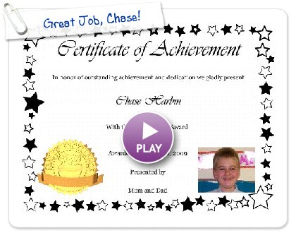 Click to play this Smilebox postcard: Great Job, Chase!