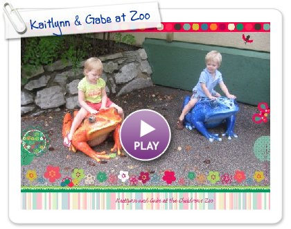 Click to play this Smilebox slideshow: Kaitlynn & Gabe at Zoo