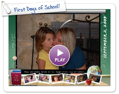 Click to play this Smilebox postcard: First Days of School!