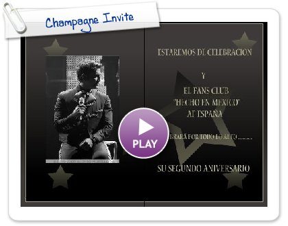 Click to play this Smilebox invite: Champagne Invite
