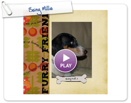 Click to play this Smilebox scrapbook: Being Millie