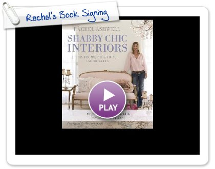 Click to play this Smilebox slideshow: Rachel's Book Signing