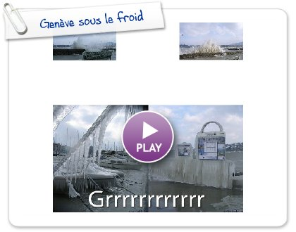 Click to play this Smilebox photobook: Genève sous le froid