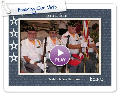 Click to play this Smilebox slideshow: Honoring Our Vets