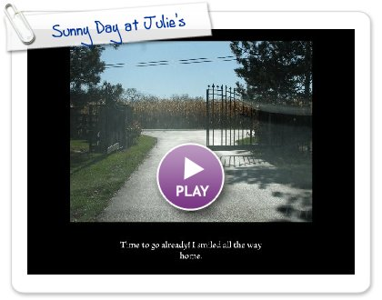 Click to play this Smilebox slideshow: Sunny Day at Julie's