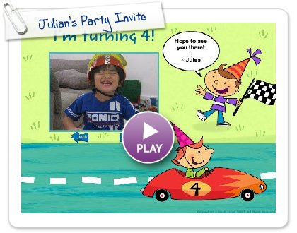 Click to play this Smilebox slideshow: Julian's Party Invite