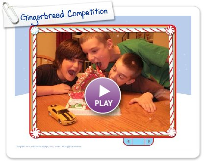 Click to play this Smilebox slideshow: Gingerbread Competition