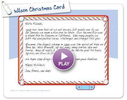 Click to play this Smilebox slideshow: Wilson Christmas Card