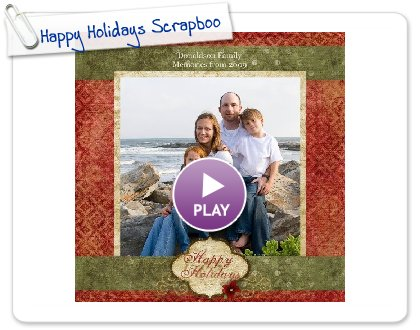 Click to play this Smilebox scrapbook: Our Christmas E-card