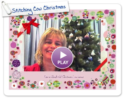 Click to play this Smilebox greeting: Stitching Cow Christmas