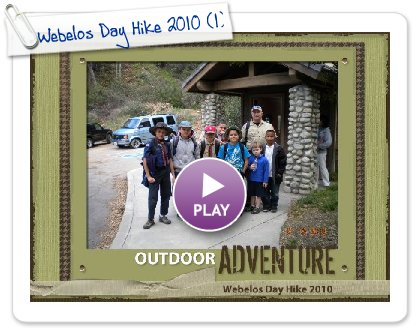 Click to play this Smilebox scrapbook: Webelos Day Hike 2010