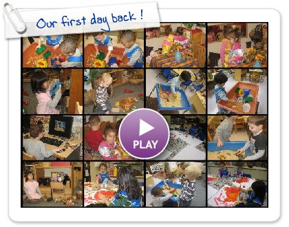 Click to play this Smilebox slideshow: Our first day back !