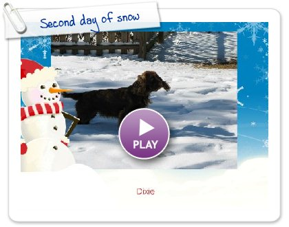 Click to play this Smilebox slideshow: Second day of snow