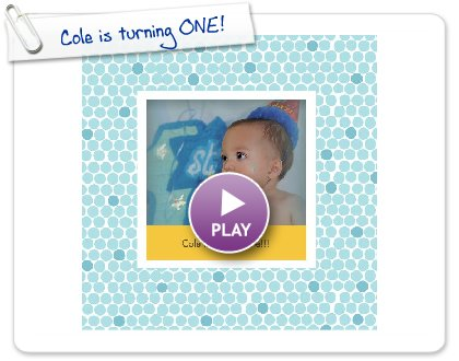 Click to play this Smilebox photobook: Cole is turning ONE!