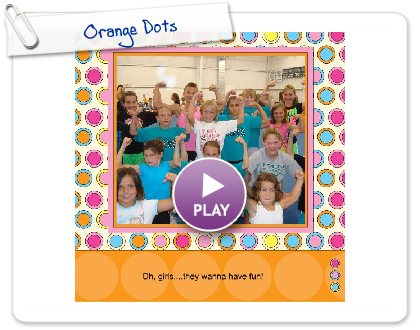 Click to play this Smilebox photobook: Orange Dots