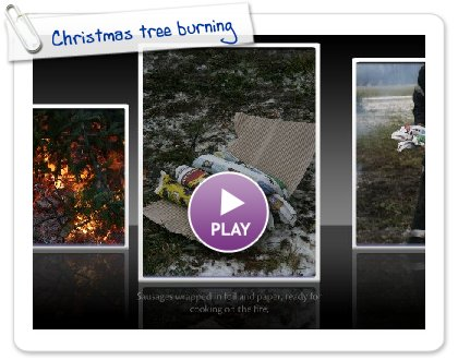 Click to play this Smilebox slideshow: Christmas tree burning