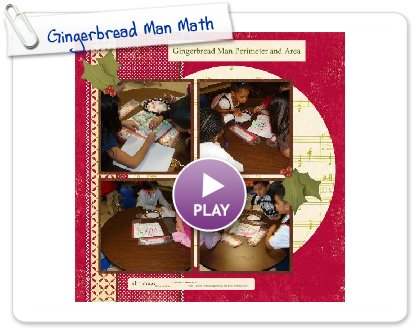 Click to play this Smilebox scrapbook: Gingerbread Man Math