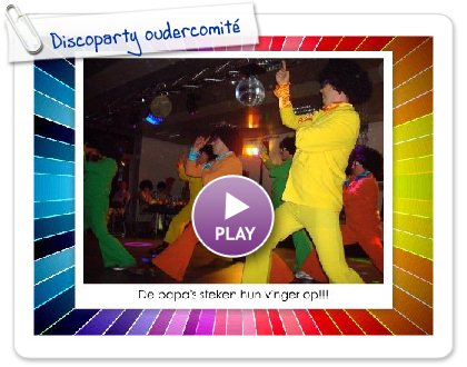 Click to play this Smilebox slideshow: Discoparty oudercomité