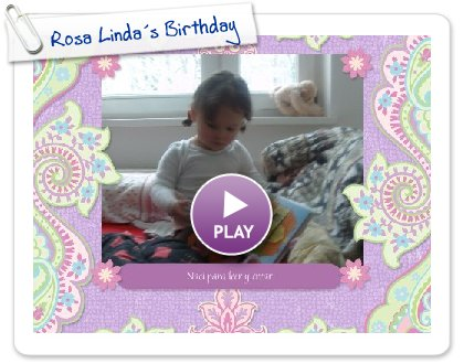 Click to play this Smilebox scrapbook: Rosa Linda´s Birthday