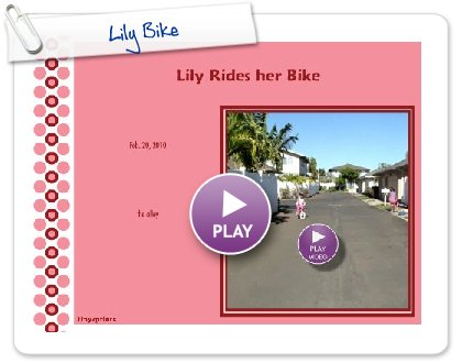 Click to play this Smilebox invite: Lily Bike