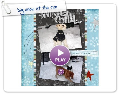 Click to play this Smilebox scrapbook: big snow at the run