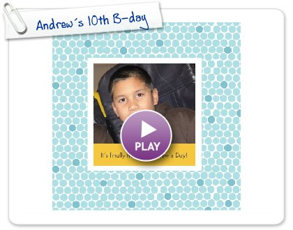 Click to play this Smilebox photobook: Andrew´s 10th B-day