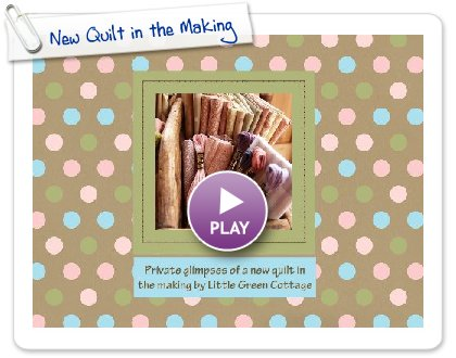 Click to play New Quilt in the Making