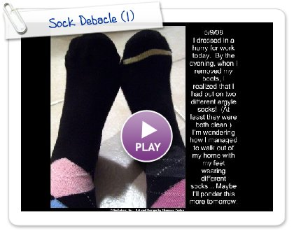 Click to play Sock Debacle
