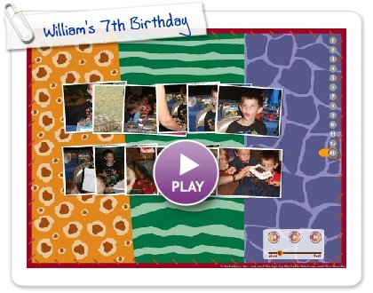 Click to play William's 7th Birthday