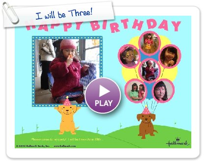 Click to play I will be Three!