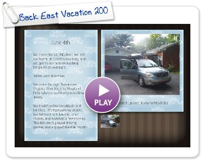 Click to play Back East Vacation 2008