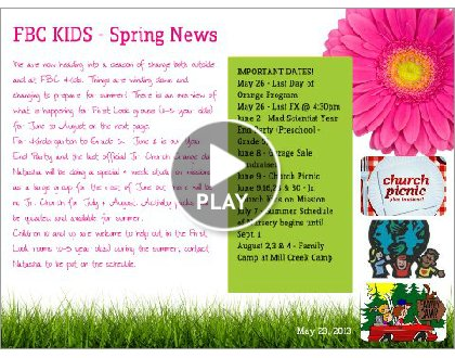 Click to play this Smilebox newsletter