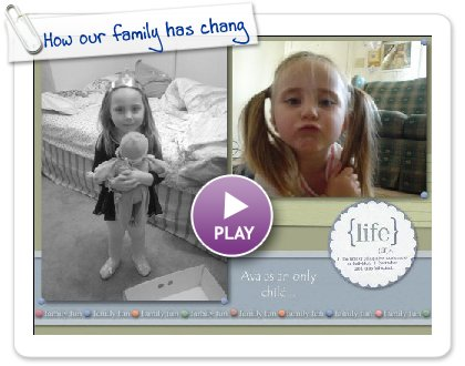 Click to play How our family has chang