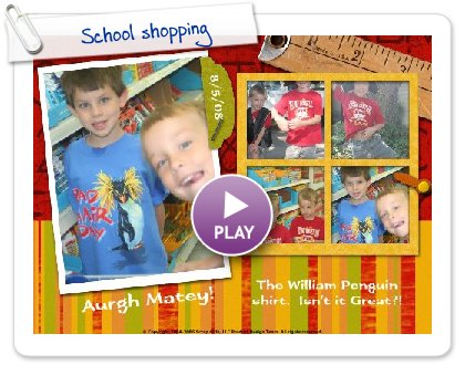 Click to play School shopping