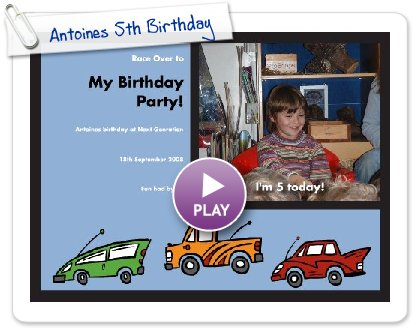 Click to play Antoines 5th Birthday