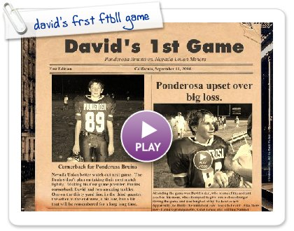 Click to play david's frst ftbll game