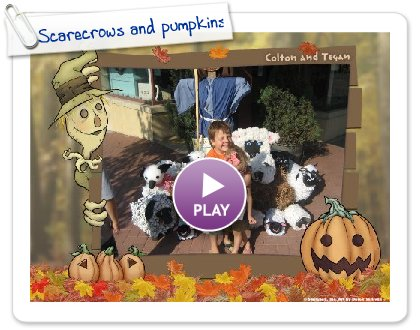 Click to play Scarecrows and pumpkins