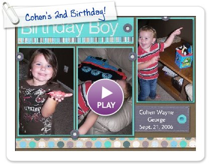 Click to play Cohen's 2nd Birthday!