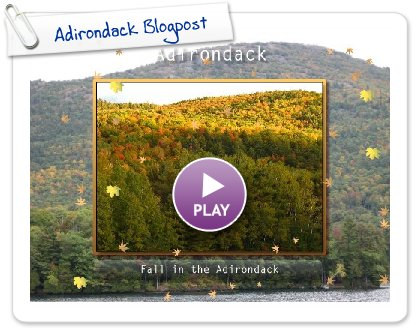 Click to play Adirondack Blogpost