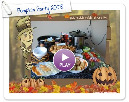 Click to play Pumpkin Party 2008